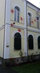 Farbanschlag auf das Haus der Burschenschaft Hannovera