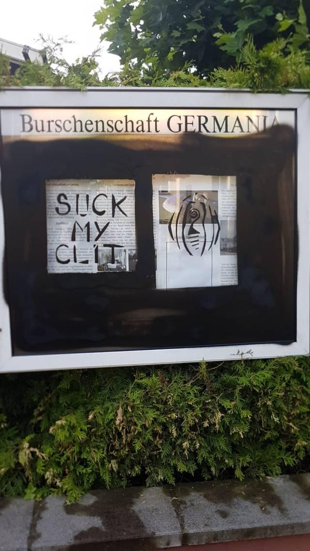 Vandalismus Schaukasten